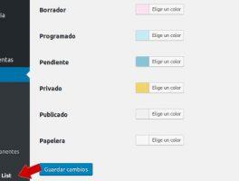 Como cambiar el color del estado de las entradas en la administración de WordPress