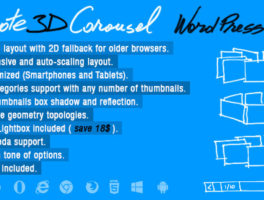 Plugin para incluir un impresionante carrusel 3D para WordPress