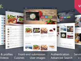 Plantilla de WordPress para crear una comunidad de recetas
