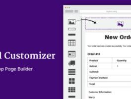 Personalizador de correo electrónico para WooCommerce con arrastrar y soltar