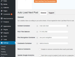 Plugin Carga automática Siguiente publicación para WordPress