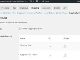 Plugin de envío por reglas para WooCommerce