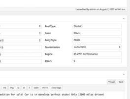 Plugin para hacer un Listado de Vehículos en WordPress